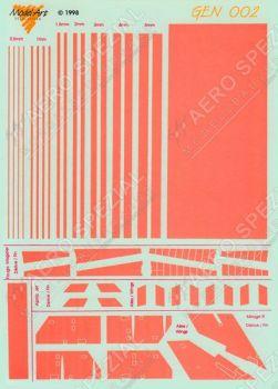 MAGD002 Streifen & Block leuchtorange
