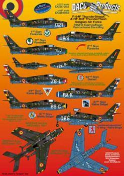 DCD4862 F-84F Thunderstreak/ RF-84F Thunderflash