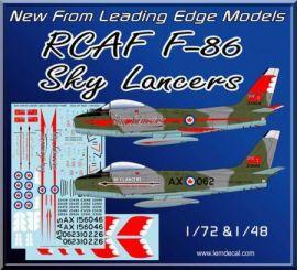 LE48065 F-86 Sabre Mk.5 Aerobatic Team Sky Lancers