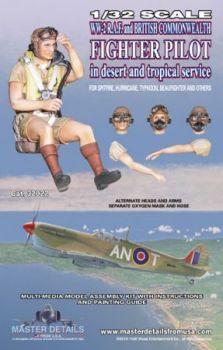 MD32022 Jägerpilot RAF/Commonwealth WK II Wüsten-/Tropeneinsatz
