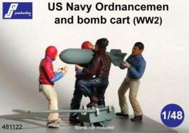 PJ481122 Ordnance Men and Bomb Trolley U.S. Navy WW II