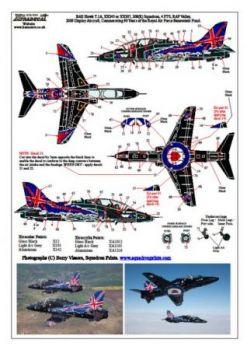 XD32034 Hawk T.1A Sonderanstrich 90 Jahre RAF Benevolent Fund