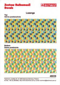 TMD48039 4-farbige Lozenge für Ober- und Unterseite