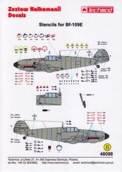 TMD48098 Bf 109 E Stencils