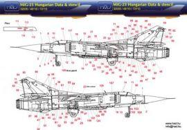 HU32035 MiG-23 Flogger Stencils ungarische Luftwaffe