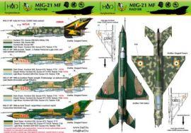 HU48108 MiG-21MF Fishbed-J ungarische und indische Luftwaffe