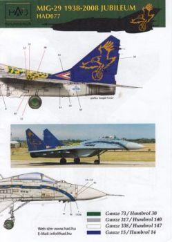 HU72077 MiG-29B Fulcrum-A Sonderanstrich ungarische Luftwaffe
