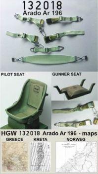 HG132018 Ar 196 Sitze und Sitzgurte