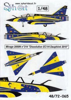 SY48065 Mirage 2000N Sonderanstrich Auflösung EC1/4 Dauphine