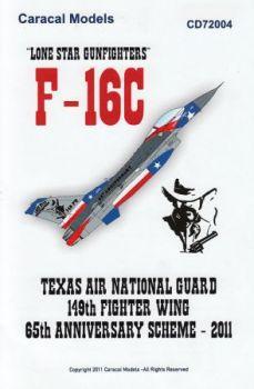 CD72004 F-16C Block 30 Fighting Falcon Lone Star Gunfighters