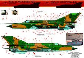 HU72092 MiG-21MF/bis/UM Fishbed/Mongol Stencils