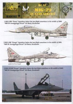 HU72102 MiG-29 Fulcrum ungarische Luftwaffe