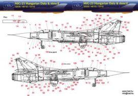 HU72110 MiG-23 Flogger Stencils ungarische Luftwaffe