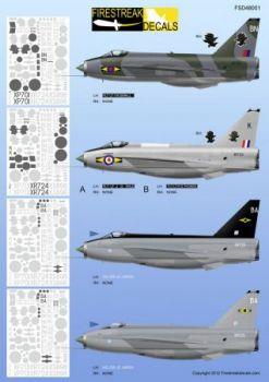 FID4801 Lightning F.3/F.6/T.5 No. 11 Sqn RAF