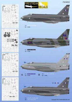FID4802 Lightning F.3/F.6/T.5 LTF & No. 11 Sqn RAF