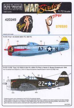 KW72070 P-47D Thunderbolt: Fran & Tipsy