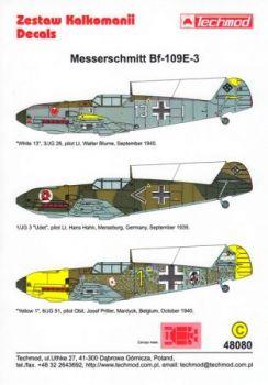 TMD48080 Bf 109 E-3 (JG 3, JG 26, JG 51)
