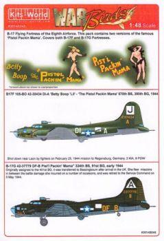 KW48048 B-17F/G Flying Fortress: Betty Boop & Pistl Packin Mama