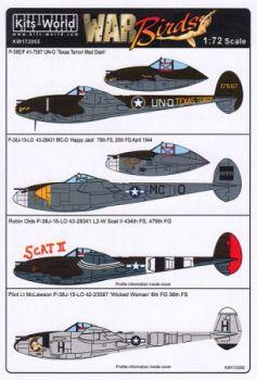 KW72055 P-38F Lightning: Texas Terror/Mad Dash & Happy Jack