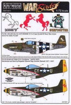 KW72071 P-51B/D Mustang: Bonnie B & Gunfighter