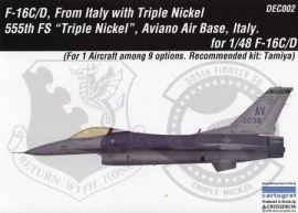 CDD4802 F-16C/D Fighting Falcon 555th FS Triple Nickle