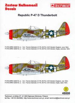 TMD48006 P-47D Thunderbolt Col. Gabreski