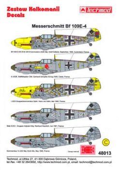 TMD48013 Bf 109 E-4: JG 1, JG 2 & JG 26