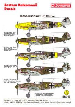 TMD48017 Bf 109 F-2: JG 77 & Bf 109 F-4: JG 2, JG 5, JG 52 & JG 77