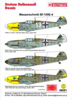 TMD48081 Bf 109 E-4: JG 2, JG 3 & JG 51