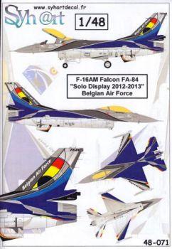 SY48071 F-16AM Fighting Falcon BAF Solo Display Team 2012-2013