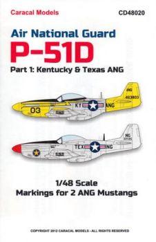 CD48020 F-51D Mustang Kentucky & Texas Air National Guard