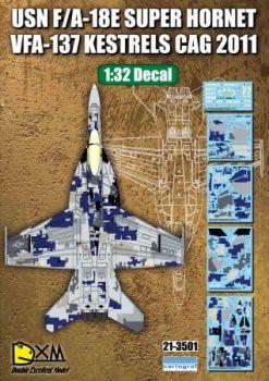DXM32001 F/A-18E Super Hornet Digital Camo VFA-137 Kestrels