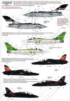 XD72156 Tornado GR.4, Hawk T.1, Typhoon FGR.4 & Hawk T.2 RAF Jubiläumsanstriche