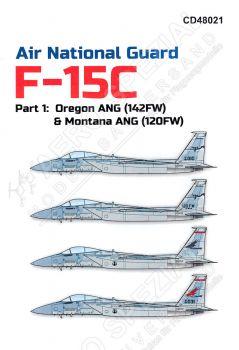 CD48021 F-15C/D Eagle Oregon ANG & Montana ANG