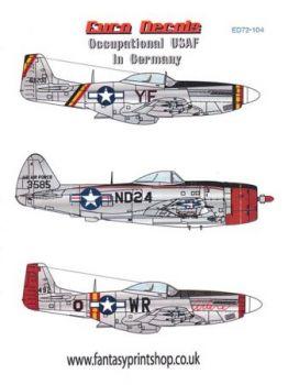 EU72104 P-51D Mustang & F-47D Thunderbolt U.S. Air Force im besetzten Deutschland