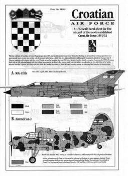 BR7802 Kroatische Luftwaffe, 1991/92