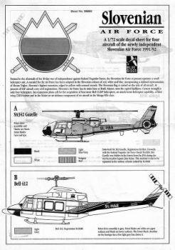 BR7801 Slowenische Luftwaffe 1991/92