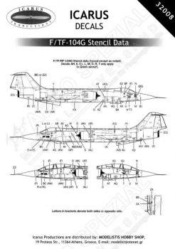 ID32008 F/RF/TF-104G Starfighter Warn- und Wartungshinweise
