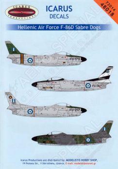 ID72014 F-86D Sabre Dog griechische Luftwaffe