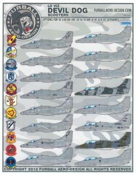 FBD48010 A-4 Skyhawk U.S. Marines Low Visibilty