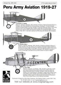 BR7258 Peruanische Luftstreitkräfte 1919-27