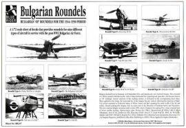 BR7247 Kokarden bulgarische Luftwaffe 1944-50