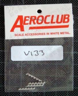 AEV133 Griffon-Auspuffrohre; 4 Stück