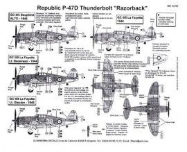 BD32005 P-47D Thunderbolt Razorback French Air Force