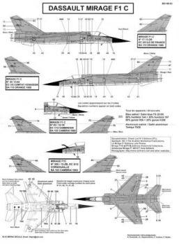 BD48053 Mirage F1C (EC 1/5, EC 1/12, EC 2/5, EC 3/5, EC 3/12, EC 3/33, EC 4/33)