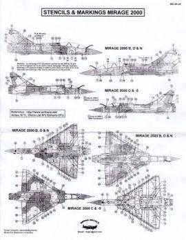 BD48068 Mirage 2000B/C/D/N & Mirage 2000-5 Stencils