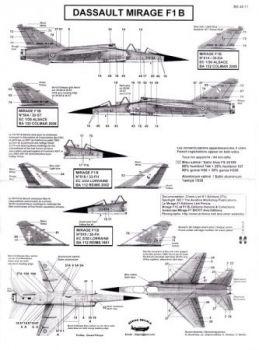 BD48071 Mirage F1B (EC 1/30, EC 3/30, EC 3/33)