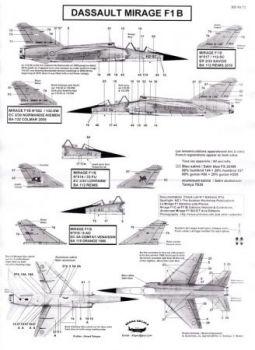 BD48072 Mirage F1B (EC 2/30, ER 2/33, EC 3/5, EC 3/33)