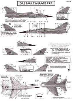 BD72050 Mirage F1B (EC 2/30, ER 2/33, EC 3/5, EC 3/33)