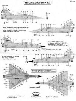 BD72055 Mirage 2000B/D DGA EV (Flugerprobung)